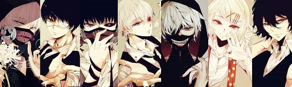 Tags: Anime, Youshima, Tokyo Ghoul, Kaneki Ken, Suzuya Juuzou, Kirishima Ayato, Pixiv, Fanart, Fanart From Pixiv