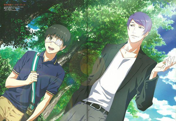 Tags: Anime, Studio Pierrot, Tokyo Ghoul, Tsukiyama Shuu, Kaneki Ken, Scan, Official Art
