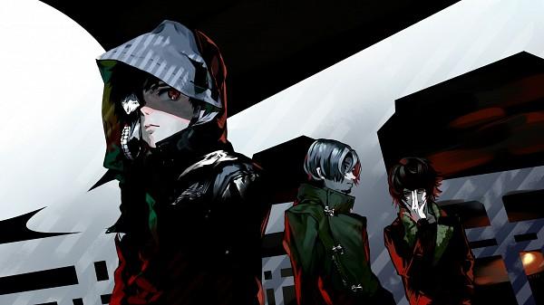 Tags: Anime, Nishihara Isao, Tokyo Ghoul, Nishio Nishiki, Kaneki Ken, Yomo Renji, Pixiv, Wallpaper, Fanart, Facebook Cover, Fanart From Pixiv