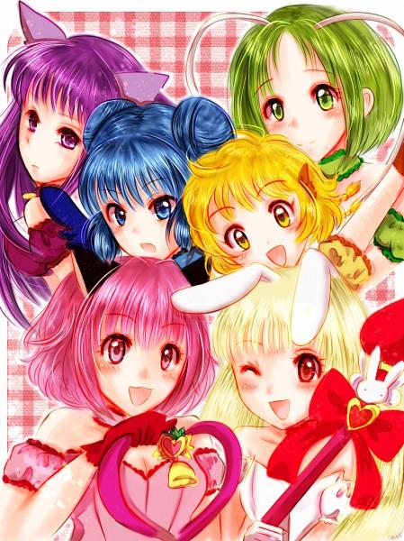 Tags: Anime, Pixiv Id 2694358, Tokyo Mew Mew, Fujiwara Zakuro, Mew Mint, Midorikawa Lettuce, Mew Pudding, Mew Ichigo, Mew Zakuro, Pudding Fon, Mew Lettuce, Aizawa Mint, Mew Berry