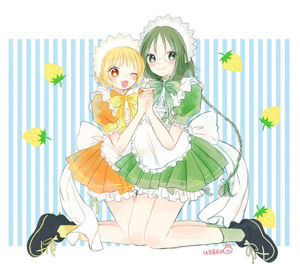 Tags: Anime, Pixiv Id 181549, Tokyo Mew Mew, Midorikawa Lettuce, Pudding Fon, Fanart From Pixiv, Fanart, Pixiv