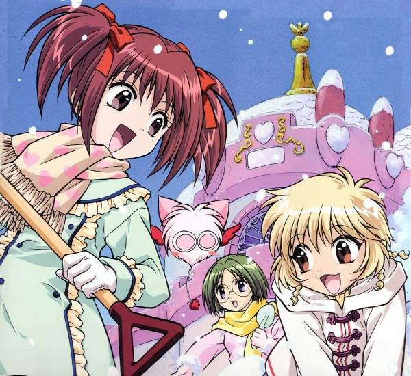 Tags: Anime, Tokyo Mew Mew, Pudding Fon, Momomiya Ichigo, Masha, Midorikawa Lettuce, Official Art