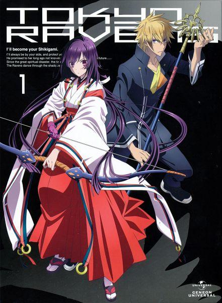 Tags: Anime, 8-bit (Studio), Tokyo Ravens, Tsuchimikado Natsume, Tsuchimikado Harutora, Official Art, Scan, DVD (Source)