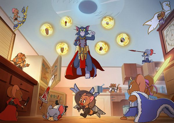 Tags: Anime, Kire, Tom and Jerry, Jerry Mouse, Tom Cat, Nibbles (Tom and Jerry), Fate/Grand Order (Parody)