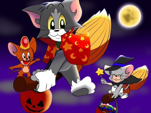 Tags: Anime, Pixiv Id 17571395, Tom and Jerry, Jerry Mouse, Tom Cat, Nibbles (Tom and Jerry), Wallpaper