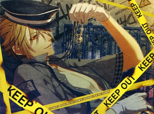 Tags: Anime, Hanamura Mai, IDEA FACTORY, AMNESIA, Toma (AMNESIA), Crime Scene Tape, Scan, Official Art, Replacement Request