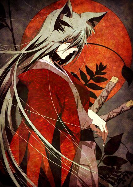 Tags: Anime, Pixiv Id 4080858, Kamisama Hajimemashita, Tomoe (Kamisama Hajimemashita), Red Moon, Mobile Wallpaper, Fanart, Pixiv