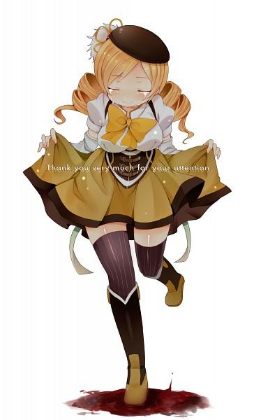 Tags: Anime, Tsukudani Norio, Mahou Shoujo Madoka☆Magica, Tomoe Mami, Curtsey, Pixiv