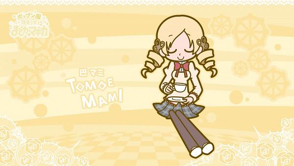 Tags: Anime, Hakusairanger, KONAMI (Studio), Mahou Shoujo Madoka☆Magica, Pop'n Music, Tomoe Mami, HD Wallpaper, Wallpaper