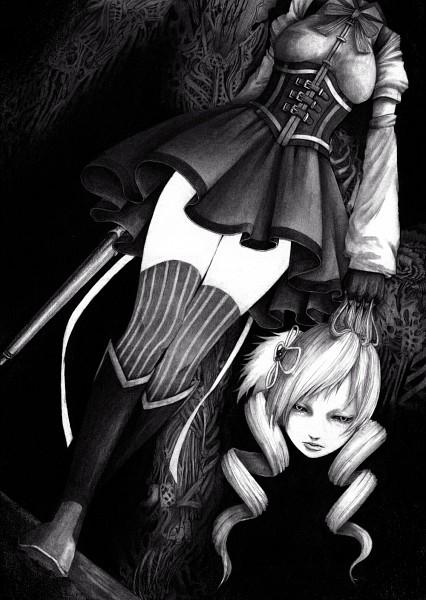 Tags: Anime, AzeLye, Dismember, Shotgun, Mobile Wallpaper