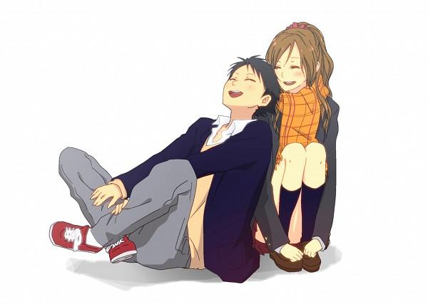Tags: Anime, Pixiv Id 265231, Tonari no Kaibutsu-kun, Sasahara Sohei, Natsume Asako, Head on Shoulder, The Monster Next To Me