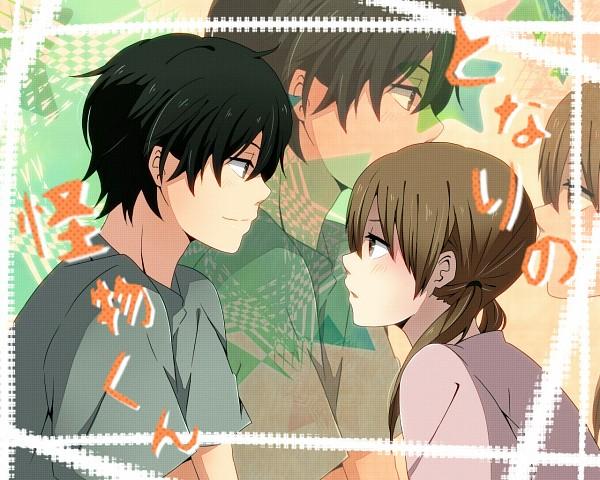 Tags: Anime, Eikichi (Yukiti09), Tonari no Kaibutsu-kun, Mizutani Shizuku, Yoshida Haru, Wallpaper, The Monster Next To Me