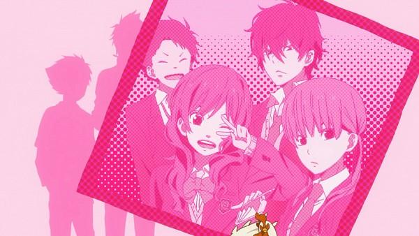 Tags: Anime, Tonari no Kaibutsu-kun, Yoshida Haru, Mizutani Shizuku, Sasahara Sohei, Natsume Asako, Wallpaper, Screenshot, The Monster Next To Me