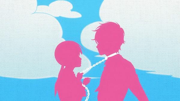 Tags: Anime, Tonari no Kaibutsu-kun, Mizutani Shizuku, Yoshida Haru, Leash, Wallpaper, Screenshot, The Monster Next To Me