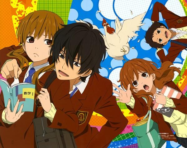 Tags: Anime, Kondou Natsuko, Tonari no Kaibutsu-kun, Natsume Asako, Yoshida Haru, Nagoya (Tonari no Kaibutsu-kun), Sasahara Sohei, Chicken, Scan, Official Art, The Monster Next To Me