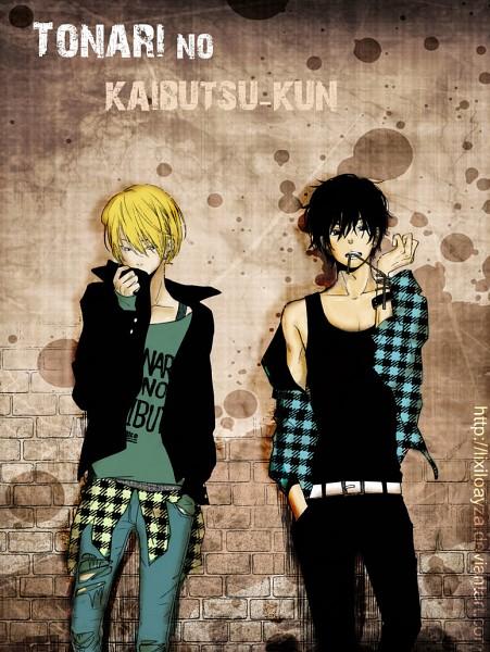 Tags: Anime, Robiko, Tonari no Kaibutsu-kun, Yamaguchi Kenji, Yoshida Haru, Colorization, deviantART, The Monster Next To Me