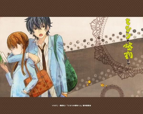 Tags: Anime, Robiko, Tonari no Kaibutsu-kun, Yoshida Haru, Mizutani Shizuku, Official Wallpaper, Wallpaper, Official Art, The Monster Next To Me