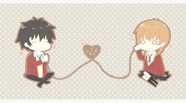 Tags: Anime, gummy bear, Tonari no Kaibutsu-kun, Yoshida Haru, Mizutani Shizuku, String Telephone, Facebook Cover, The Monster Next To Me