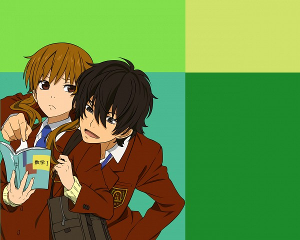 Tags: Anime, Tonari no Kaibutsu-kun, Yoshida Haru, Mizutani Shizuku, Artist Request, Wallpaper, The Monster Next To Me