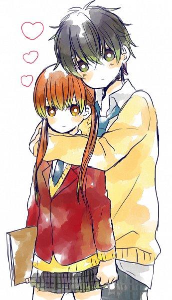 Tags: Anime, Pixiv Id 1496866, Tonari no Kaibutsu-kun, Yoshida Haru, Mizutani Shizuku, Mobile Wallpaper, The Monster Next To Me