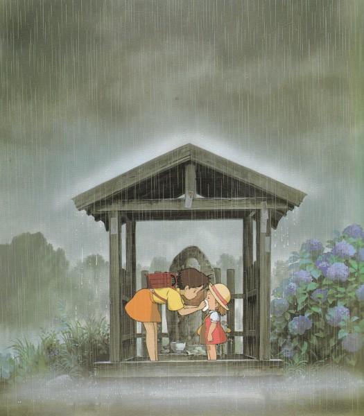 Tags: Anime, Studio Ghibli, Tonari no Totoro, Kusakabe Satsuki, Kusakabe Mei, Shrine, My Neighbor Totoro