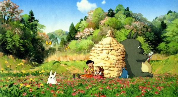 Tags: Anime, Studio Ghibli, Tonari no Totoro, Totoro, Kusakabe Mei, Kusakabe Satsuki, Chu-totoro, Facebook Cover, My Neighbor Totoro
