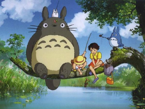 Tags: Anime, Studio Ghibli, Tonari no Totoro, Kusakabe Satsuki, Chu-totoro, Totoro, Kusakabe Mei, Wallpaper, My Neighbor Totoro