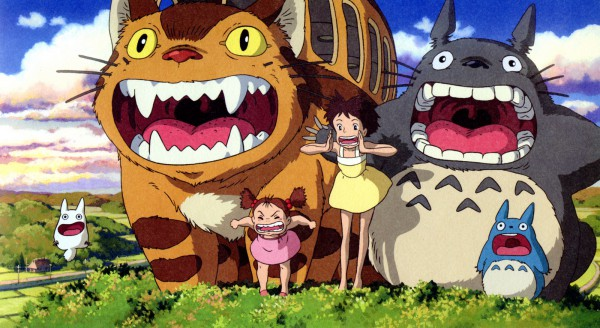 Tags: Anime, Studio Ghibli, Tonari no Totoro, Totoro, Kusakabe Mei, Kusakabe Satsuki, Chu-totoro, Cat Bus, Facebook Cover, Official Art, My Neighbor Totoro