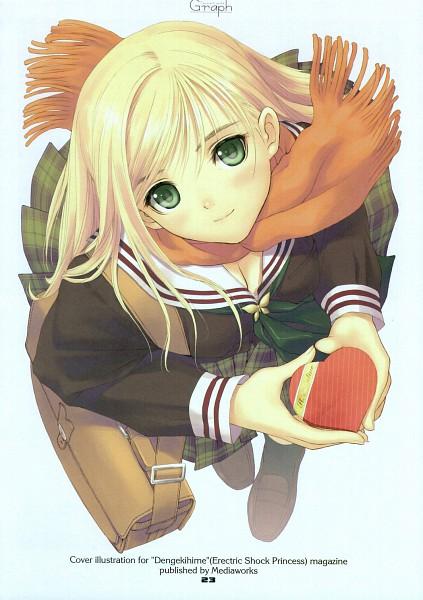 Tags: Anime, Tony Taka, Tony's Art Works Graph I, Tony's Art Works Graph II, Orange Neckwear, Mobile Wallpaper
