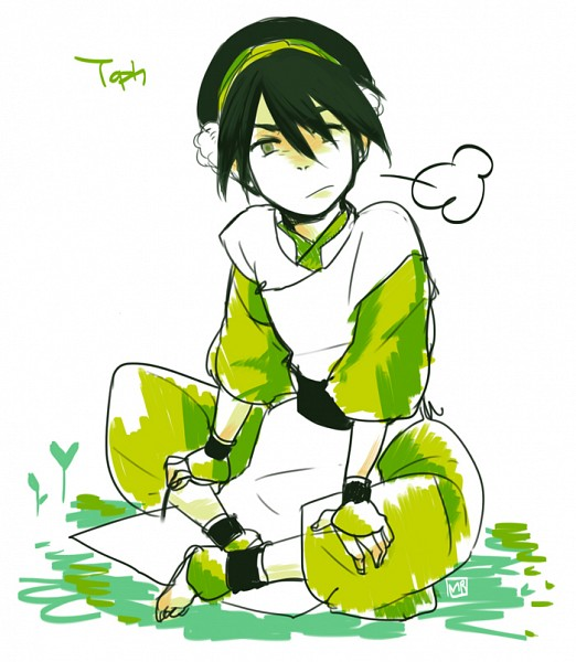 Tags: Anime, Avatar: The Last Airbender, Toph Bei Fong, Breath, Blind, Sketch, Artist Request