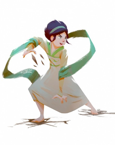 Tags: Anime, Avatar: The Last Airbender, Toph Bei Fong, Cracks, Shawl, Blind, Fanart From Tumblr, Tumblr, Fanart