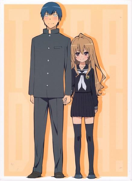 Tags: Anime, Tanaka Masayoshi, Toradora!, Aisaka Taiga, Takasu Ryuuji, Official Art