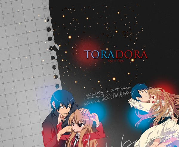 Tags: Anime, Toradora!, Aisaka Taiga, Takasu Ryuuji, Fanmade Wallpaper, Wallpaper, Edited