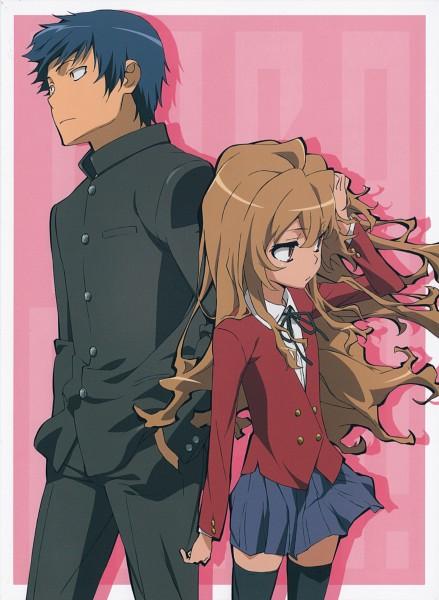 Tags: Anime, Tanaka Masayoshi, Toradora!, Takasu Ryuuji, Aisaka Taiga, Scan, Official Art