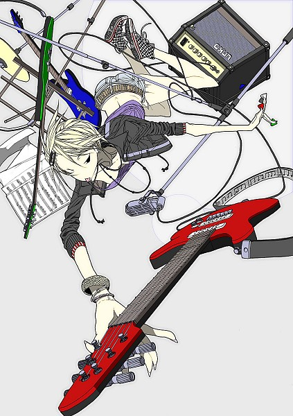 Tags: Anime, Tori Niku, Music Stand, Sheet Music, Original, Pixiv