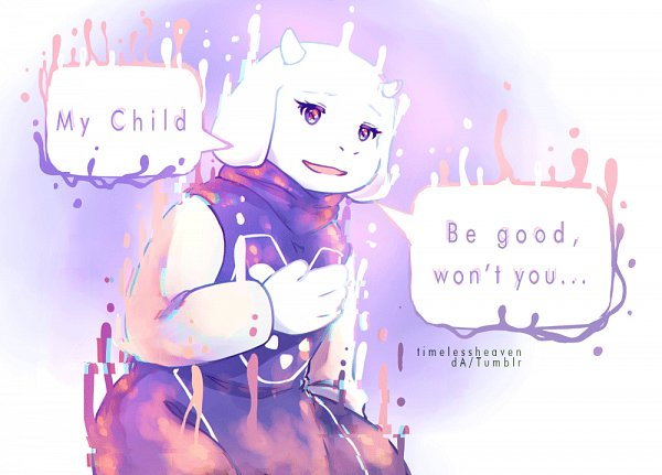 Tags: Anime, Undertale, Toriel, Disappearing, Artist Request
