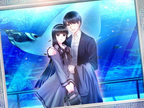 Tags: Anime, Nishio Tooru, Kalmia8, Torikago no Marriage, Shingyouji Yuuto, Fujii Kanako, Aquarium, CG Art
