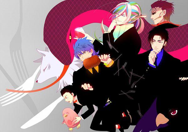 Tags: Anime, Kanamura Ren, Toriko, Terry Cloth, Yun (Baby Wall Penguin), Komatsu (Toriko), Kiss (Toriko), Coco (Toriko), Sani (Toriko), Quinn (Mother Snake), Zebra (Toriko), Toriko (Character), Meat