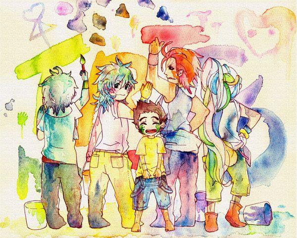 Tags: Anime, Pixiv Id 2354818, Toriko, Coco (Toriko), Zebra (Toriko), Sani (Toriko), Toriko (Character), Komatsu (Toriko), Painting (Action), Semi Chibi, Pixiv, Fanart, Fanart From Pixiv