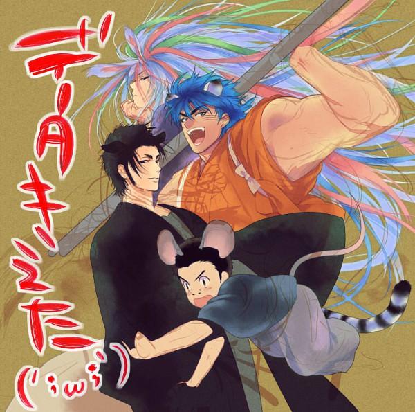 Tags: Anime, Pixiv Id 37546, Toriko, Komatsu (Toriko), Coco (Toriko), Sani (Toriko), Toriko (Character), Pixiv, Fanart, Shitennou