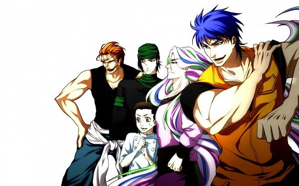 Tags: Anime, Shimabukuro Mitsutoshi, Toriko, Sani (Toriko), Zebra (Toriko), Toriko (Character), Komatsu (Toriko), Coco (Toriko), Fanart, Wallpaper, Shitennou