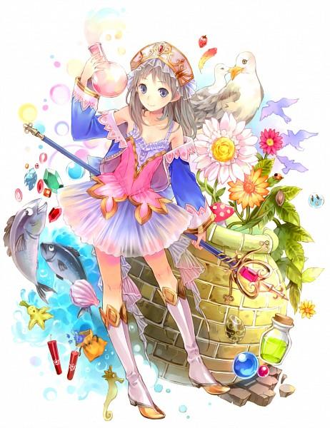 Tags: Anime, Kishida Mel, Alchemist of Arland, Totooria Helmold, Seagull, Seahorse, Dynamite, Seashell, Potion