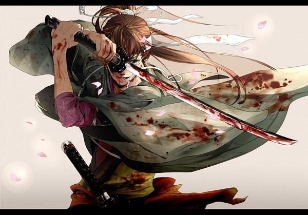 Tags: Anime, En (pixiv 1642655), Hakuouki Shinsengumi Kitan, Toudou Heisuke (Hakuouki), Fanart, Pixiv