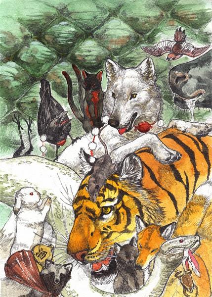 Tags: Anime, Kobushi, Touhou, Chen, Nazrin, Inubashiri Momiji (Wolf), Inaba Tewi, Chen (Cat), Moriya Suwako, Mystia Lorelei, Inaba Tewi (Bunny), Yasaka Kanako, Yakumo Ran (Fox)
