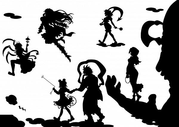 Tags: Anime, Kitazinger, Undefined Fantastic Object, Touhou, Toramaru Shou, Kumoi Ichirin, Murasa Minamitsu, Hijiri Byakuren, Houjuu Nue, Nazrin, Unzan