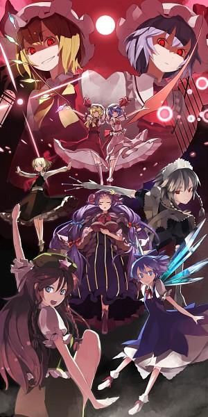Tags: Anime, Shihou (g-o-s), Touhou, The Embodiment of Scarlet Devil, Rumia, Cirno, Flandre Scarlet, Patchouli Knowledge, Izayoi Sakuya, Hong Meiling, Remilia Scarlet
