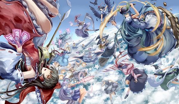 Tags: Anime, Utarion, Scarlet Weather Rhapsody, Touhou, Hinanawi Tenshi, Izayoi Sakuya, Shameimaru Aya, Alice Margatroid, Ibuki Suika, Saigyouji Yuyuko, Kirisame Marisa, Onozuka Komachi, Konpaku Youmu