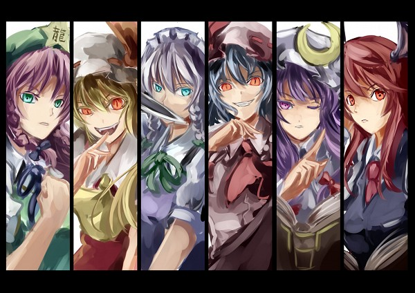 Tags: Anime, Utarion, Touhou, Izayoi Sakuya, Koakuma, Remilia Scarlet, Hong Meiling, Flandre Scarlet, Patchouli Knowledge