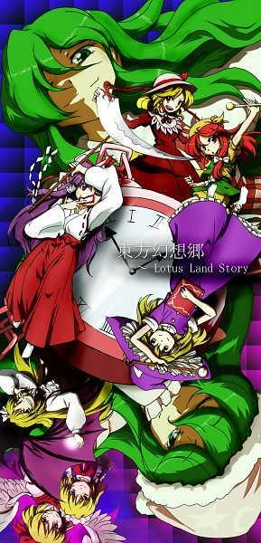 Tags: Anime, Pixiv Id 213829, Touhou, Gengetsu, Kirisame Marisa, Hakurei Reimu (Classic), Kurumi (Touhou), Hakurei Reimu, Elly, Kazami Yuuka (Classic), Orange (Touhou), Mugetsu, Kazami Yuuka