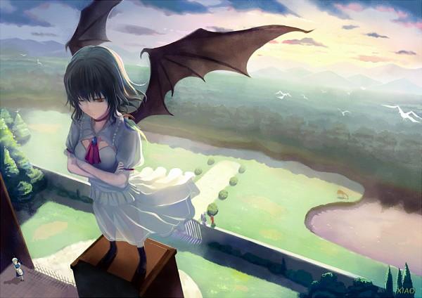 Tags: Anime, Yunohara Konomi, Touhou, Hong Meiling, Izayoi Sakuya, Remilia Scarlet, Fanart, PNG Conversion, Pixiv